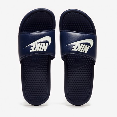 Тапочки Nike Sportswear Just Do It Benassi Slides - Midnight Navy - 343880-403
