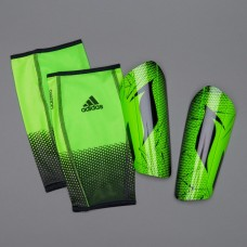 Футбольные щитки + сеточки Adidas Messi 10 Pro - Solar Lime/Black AP7068 Original