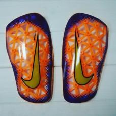 Футбольные щитки Nike Mercurial Lite Blue Orange
