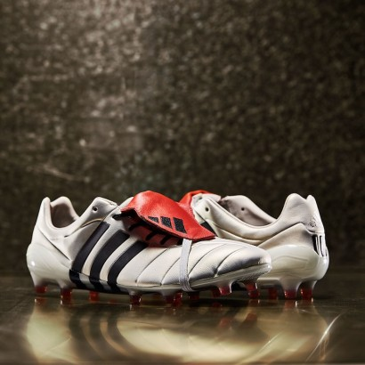 Бутсы Adidas Predator Mania FG Champagne - Off White/Core Black/Red S80966 *
