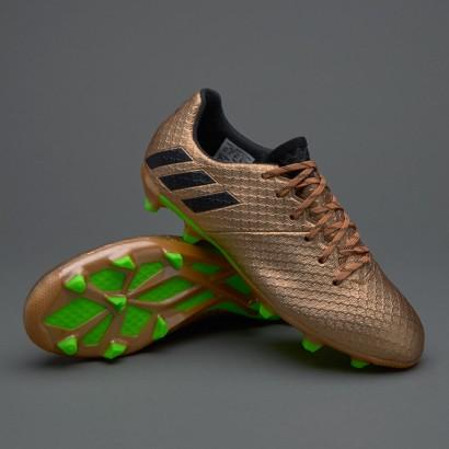 Adidas Kids Messi 16.3 FG - Copper Metallic/Core Black/Solar Green