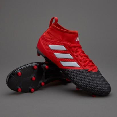 Бутсы Adidas ACE 17.3 FG Red/Black BA8506 (с носком)