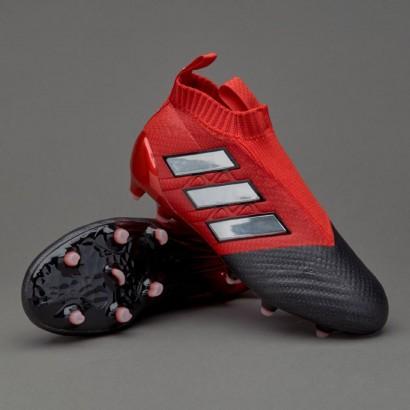 Профессиональные бутсы Adidas Ace 17+ Primeknit Firm Ground Core BB5946 Red White Black