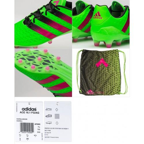 new arrival 5ac2b 55f87 Adidas ACE 16.1 FG - Solar Green/Shock Pink/Core Black AF5083 (Profi)
