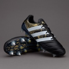 Adidas ACE 16.1 SG Leather - Core Black/White/Gold Metallic  (PRO)