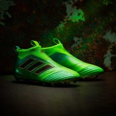 Adidas ACE 17+ Purecontrol FG - Solar Green/Core Black (BB5950) (бутсы без шнурков)