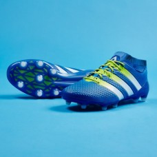 Adidas ACE 16.1 Primeknit FG/AG - Shock Blue/Semi Solar Slime/White S76470