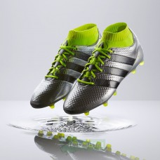 Adidas ACE 16.1 Primeknit FG/AG - Silver Metallic/Core Black/Solar Yellow S76469 (Profi)