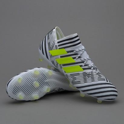 Профессиональные бутсы Adidas Nemeziz 17.1 FG - White/Solar Yellow/Core Black (BB6075)