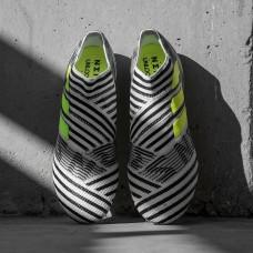 Adidas Nemeziz 17+ 360 Agility FG (BB3675) - White/Black (бутсы без шнурков)