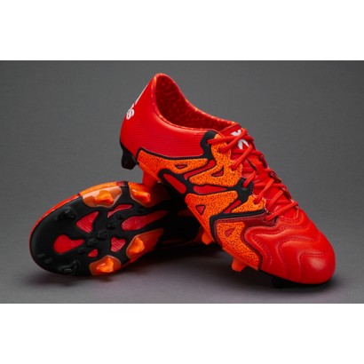 Adidas X 15.1 FG/AG Leather - Bold Orange/White/Solar Orange (Profi) B26980