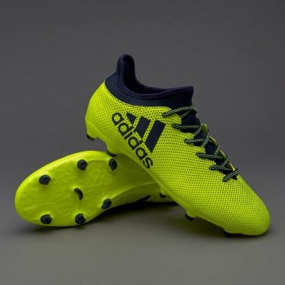Бутсы Adidas X 17.3 FG - Solar Yellow/Legend Ink/Legend S82366 (с носком)