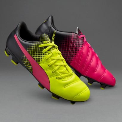 Puma evo Power 4.3 Tricks FG Pink Glo/Safety Yellow/Black