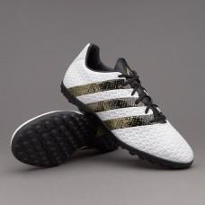 Сороконожки Adidas ACE 16.4 TF - White/Core Black/Gold (S31979)