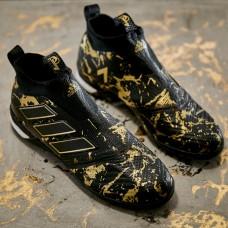 Сороконожки Adidas ACE Tango 17+ Purecontrol TF Paul Pogba Black Gold PROFI
