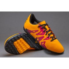 Adidas X 15.4 Kids TF - Solar Gold/Core Black/Shock Pink S74611