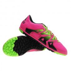 Adidas X 15.3 TF - Shock Pink/Solar Green/Core Black S74661