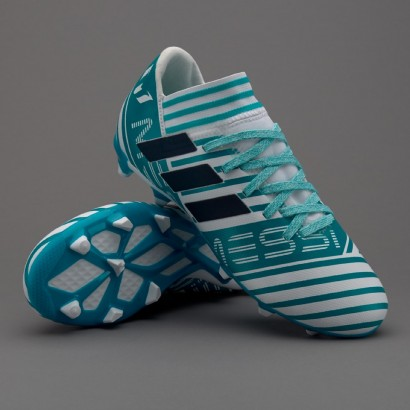 Бутсы детские Adidas Youths Nemeziz Messi 17.3 FG - White/Legend Ink/Energy Blue (BY2411)